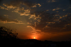 Sunrise in India Royalty Free Stock Photo