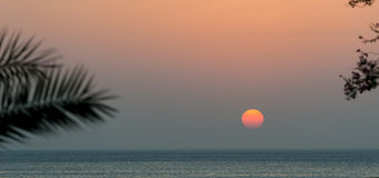 Sunrise at Indian Ocean / Fujairah UAE Stock Photo