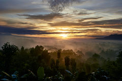 Sunrise in Indonesia royalty free stock photos
