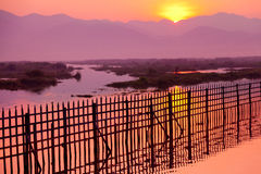 Sunrise at Inle Lake Stock Images