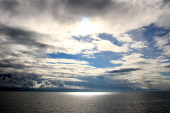 Sunrise in the Inside Passage, Alaska, United State Royalty Free Stock Photography