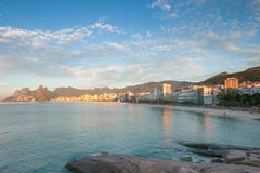 Sunrise at Ipanema, Rio de Janeiro, Brazil stock photo