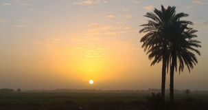 Sunrise in the Iraqi countryside Stock Images