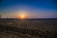 Sunrise in Iraqi desert Royalty Free Stock Photography