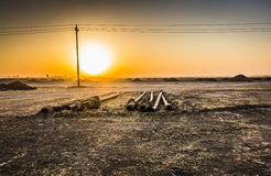 Sunrise in Iraqi desert Stock Image
