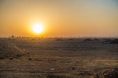 Sunrise in Iraqi desert Royalty Free Stock Images