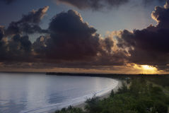 Sunrise in Isla Verde Royalty Free Stock Photo