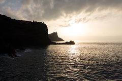 Sunrise on island of Madeira Royalty Free Stock Photography