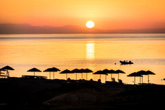 Sunrise on the island of Rhodes Stock Photos