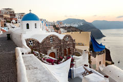 Sunrise on the island of Santorini Stock Photography