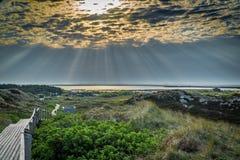 Sunrise on the island of Sylt. A Sunrise on the island of Sylt royalty free stock image