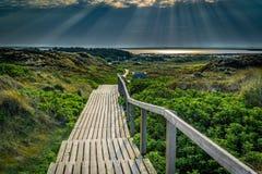 Sunrise on the island of Sylt. A Sunrise on the island of Sylt stock photo