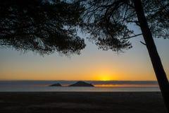 Sunrise. Isola dell Ogliastra, Sardinia Royalty Free Stock Images
