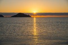 Sunrise. Isola dell Ogliastra, Sardinia. Ogliastra islands near Santa Maria Navarrese, Sardinia. Sunrise stock images