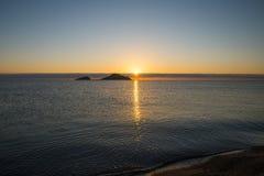Sunrise. Isola dell Ogliastra, Sardinia. Ogliastra islands near Santa Maria Navarrese, Sardinia. Sunrise stock image