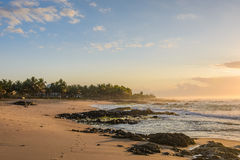 Sunrise in Itapuã Beach - Salvador - Bahia - Brazil stock image