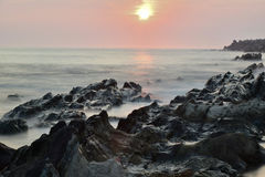 Sunrise in Japanese Island Stock Photo