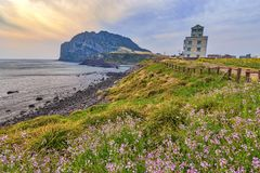 Jeju Island Korea. Sunrise at Jeju Do Seongsan Ilchulbong, Jeju Island, South Korea Stock Photography