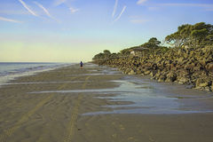 Sunrise on Jekyll Island, GA, beach Royalty Free Stock Photos