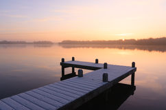 Sunrise jetty Royalty Free Stock Photo