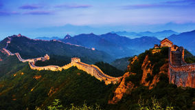 Sunrise jinshanling Great Wall Stock Photo