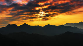 Sunrise jinshanling Great Wall Stock Photos