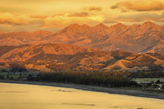 Sunrise on the Kaikoura Coast Stock Photos