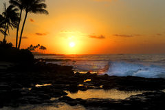 Sunrise at Kakai`ula Point Stock Photos