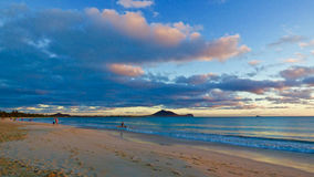 Sunrise at Kalama - Kailua, Hawai'i Stock Images