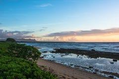 Sunrise at Kalapaki Beach, Kauai Royalty Free Stock Image