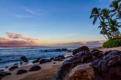 Sunrise on Kanapali Beach Royalty Free Stock Image