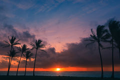 Sunrise Kapaa Beach Park - Kauai Royalty Free Stock Photo