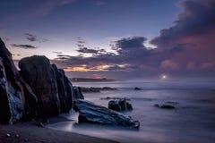 Sunrise in Karang Tawulan. Morning view in the karang tawulan beach indonesia stock photography