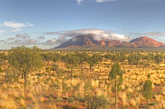 Sunrise Kata Tjuta. Early morning light in the Simpson desert, Kata Tjuta (The Olgas), Australia Stock Photo