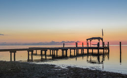 Almost sunrise in Key west, Florida Royalty Free Stock Images