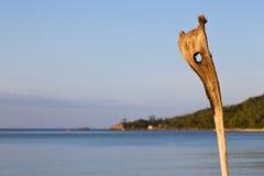 Sunrise in  kho   bay isle   beach    rocks  cane   china sea Stock Images