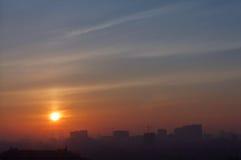 Sunrise in Kiev Royalty Free Stock Photos