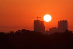 Sunrise in Kiev Royalty Free Stock Photo