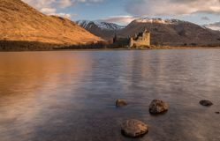 Sunrise at Kilchurn Castle on Loch Awe. Kilchurn Castle, built in the 15th Century, is a ruined structure at the northeastern end of Loch Awe, in Argyll and Bute Royalty Free Stock Images