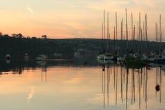 Sunrise in Kinsale. In Harbour Kinsale Ireland Royalty Free Stock Photo