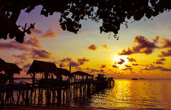 Sunrise at the Ko Samet island. Of Thailand Royalty Free Stock Photo