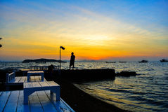 Sunrise At Koh Larn @Thailand. Sunrise At Koh Larn In Thailand Stock Photography