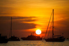 Sunrise at Koh Lipe island in Thailand, beautiful time or romantic time on the island Royalty Free Stock Image
