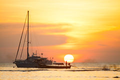 Sunrise at Koh Lipe island in Thailand, beautiful time or romantic time on the island Royalty Free Stock Photo