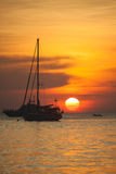 Sunrise at Koh Lipe island in Thailand, beautiful time or romantic time on the island Royalty Free Stock Images