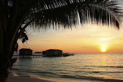 Sunrise at Koh Rong island, Cambodia Stock Photography