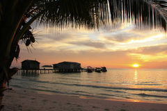 Sunrise at Koh Rong island, Cambodia Royalty Free Stock Images
