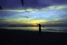 Sunrise in Koh Samui Stock Photo