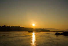 Sunrise at Kohong river. Stock Images