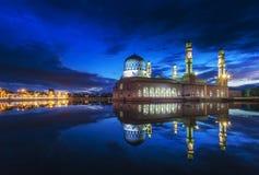 Sunrise at Kota Kinabalu mosque, famous landmark in Kota Kinabal. U, Sabah Borneo, Malaysia Stock Photo